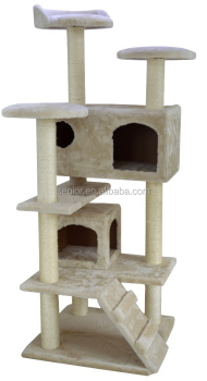 Cat Tree Scratching Kitten Climbing House