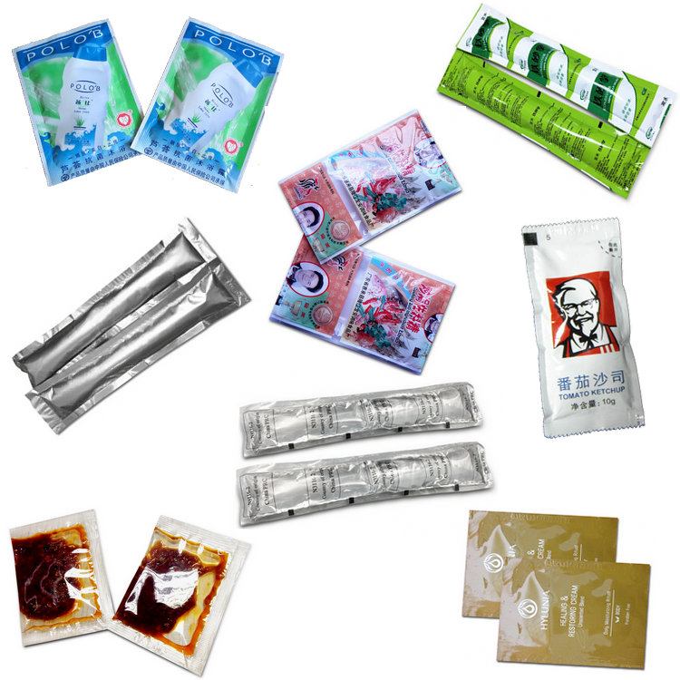 Automatic 3 or 4 sides sealing sauce coking oil bag sachet packing machine