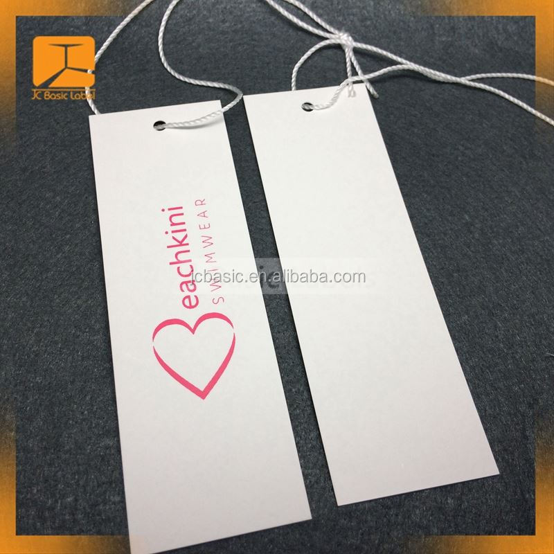 Satin finish paper custom logo printed foldable paper hang tag for socks packaging socks head card