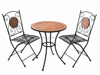 Tavoli Da Giardino In Pietra.Mobili Da Giardino Mosaico Pietra Tavolo E Sedia Bistro Set Buy