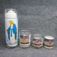 Religious Activities Use and White,customizing as required Color seven days church candles