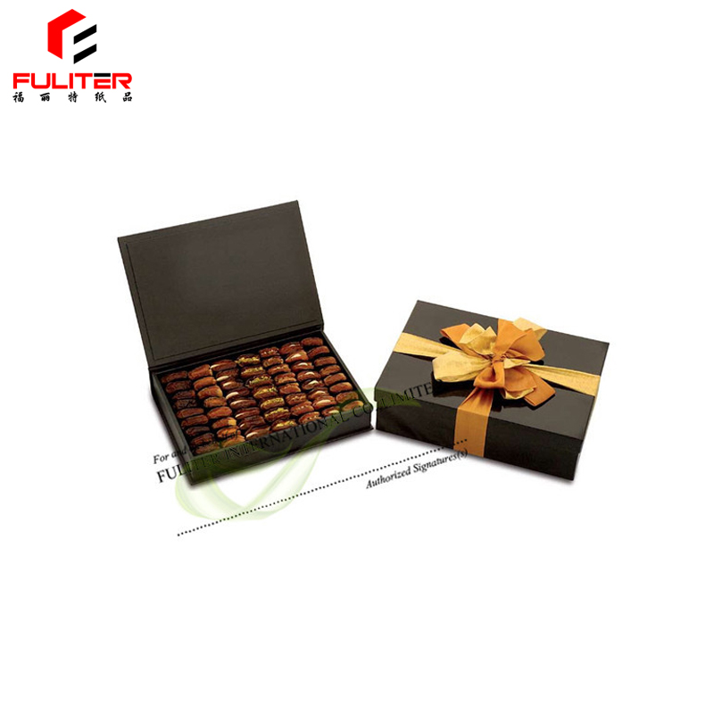 Custom made cardboard luxury dates packaging gift box
