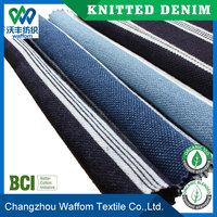wholesale custom100 cotton stripe pique knit denim fabric for shirt