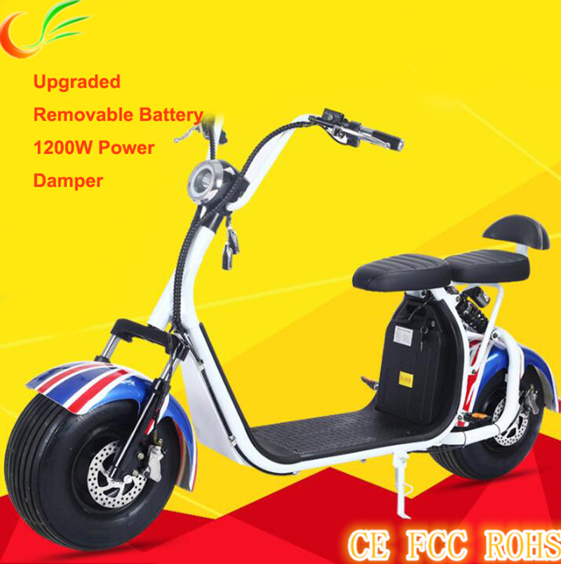 Fashion Electric Scooter Cool Sport Electric Scooter 1000W Citycoco