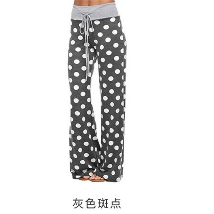 Woman wear Loose Printed cotton blend Pants Trousers
