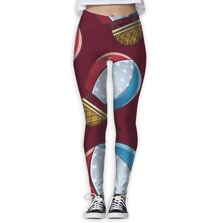 f84deb2b2c7 DF4s Pants Hot Air BalloonWomen Printed Athletic Yoga Pants Exercise  Athletic Pants Fashion High Waisted