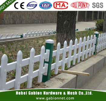 Plastic Pvc Small Fence Panels For Lawn Edging Short