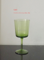 Hand Blown Lovely Green Color Goblet/Fantastic Classic Drinking Glass