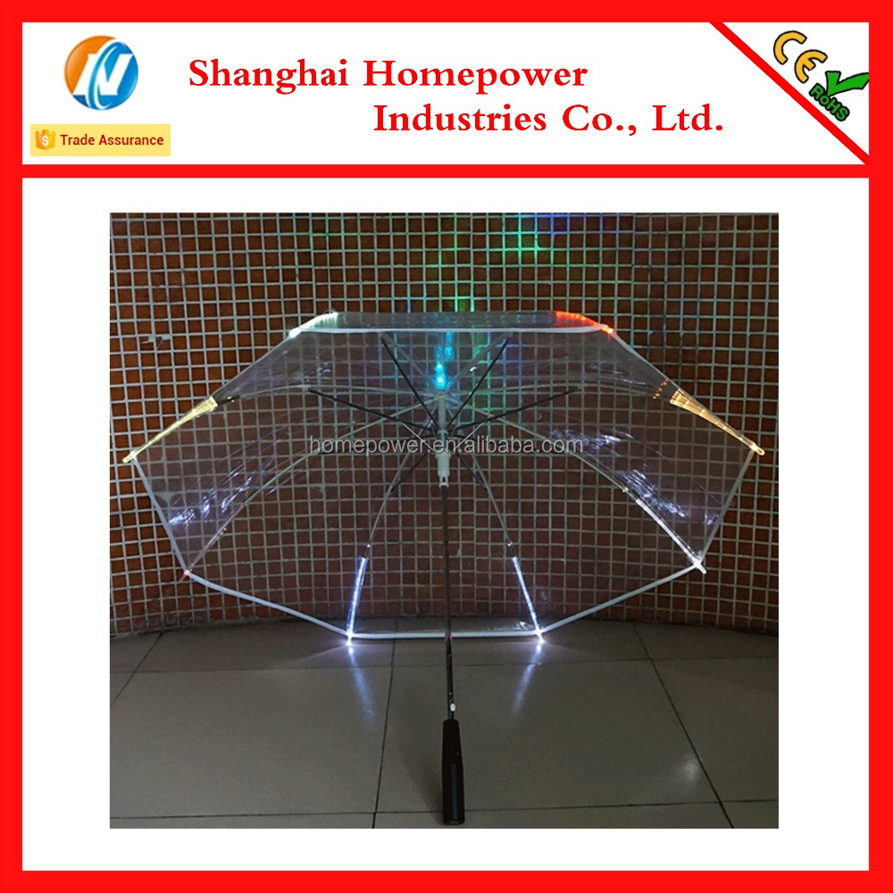 Innovative new products transparent led umbrella factory