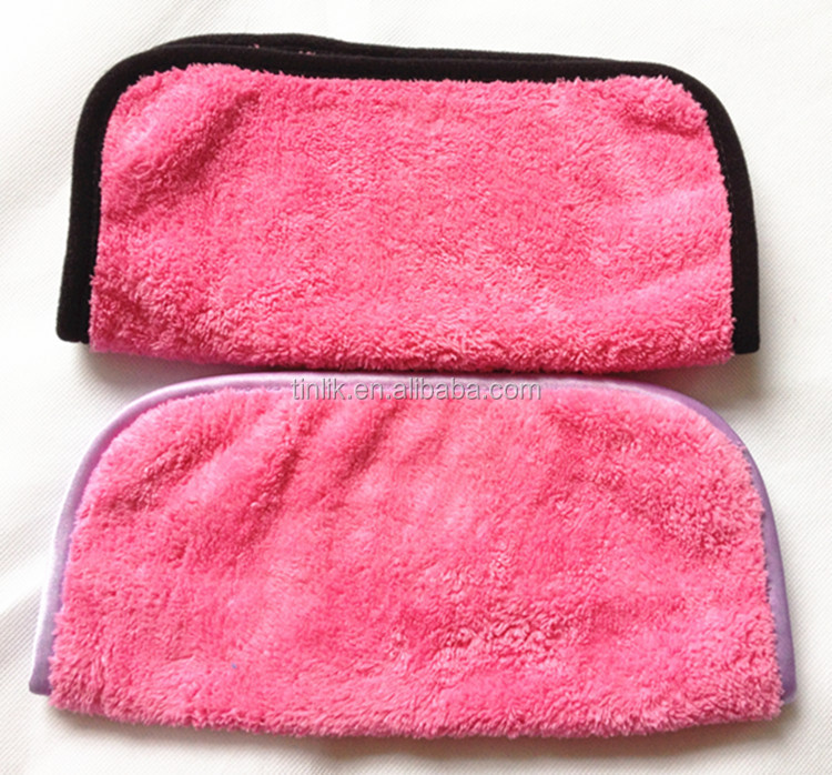 Makeup Cleaning Towel Face Towel Satin Border Remover Makeup Remover