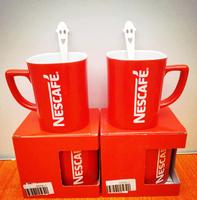 9oz High Quality Ceramic Red glazed Nescafe coffee Mug