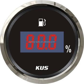52mm Auto Digital Fuel Level Gauge/meter With Backlight - Buy Digital Fuel  Level Gauge,Digital Fuel Gauge,Digital Automotive Gauges Product on