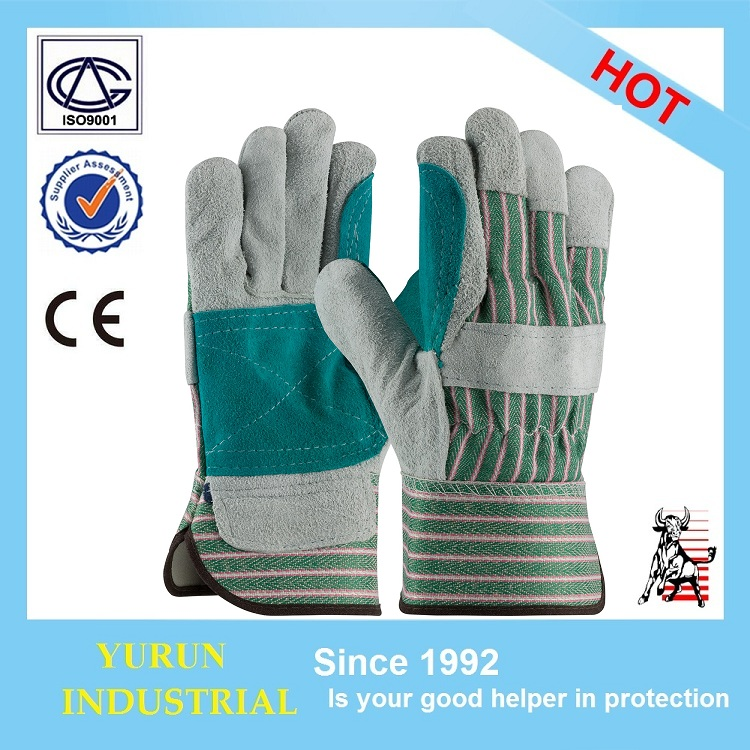 Split Cowhide work welding industry safety working leather glove