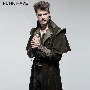 y 654 punk clothing cool killer men long coat with cape buy long