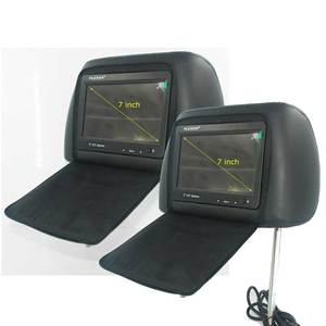 7 inch headrest monitor for car Black with pillow bag with zipper cover
