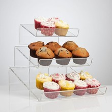 Custom hand made 3 tier custom vierkante <span class=keywords><strong>acryl</strong></span> cake stand cookies display groothandel