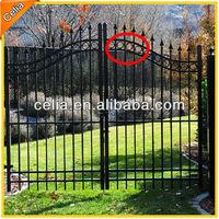 Ornamental powder coated aluminum ring for gate