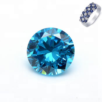 2mm Aquamarine Stone Round Brilliant CZ Cut Cubic Zirconia Gems for Jewelry Making