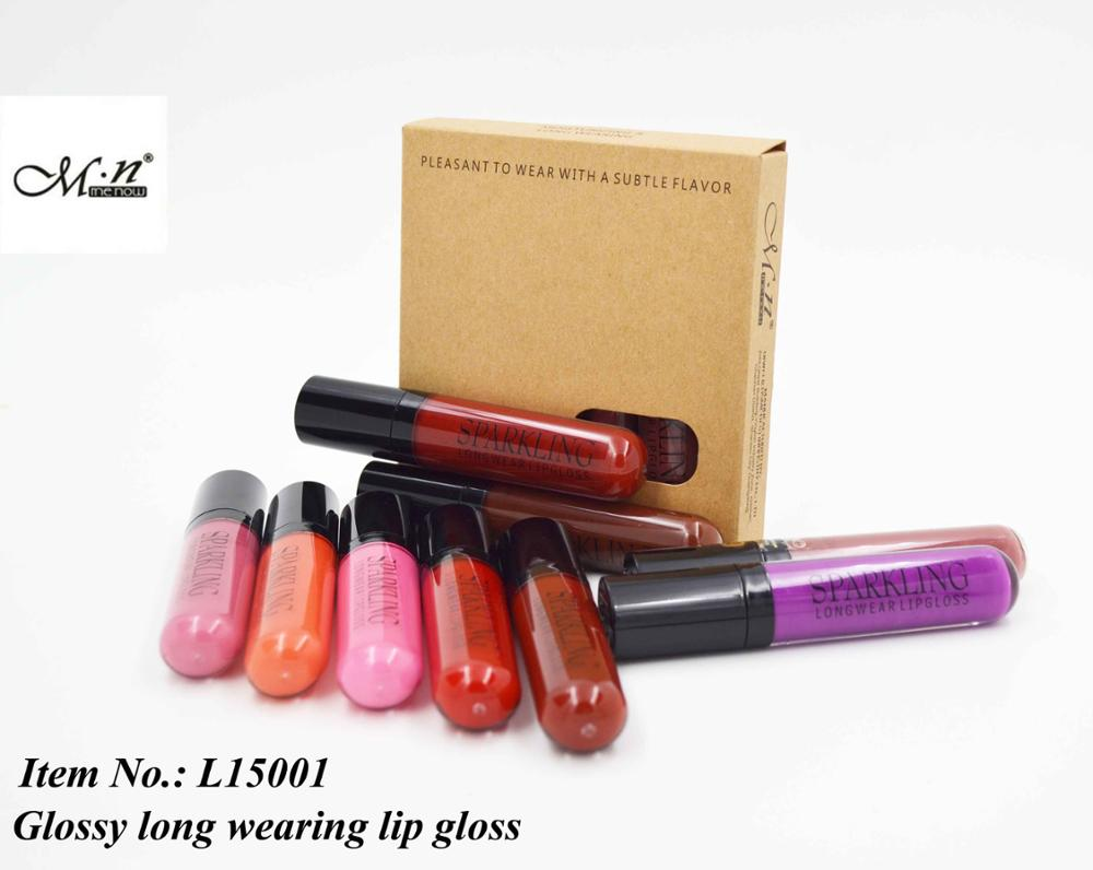 Menow L15001 Pro makeup color cosmetic glossy waterproof long wearing lip gloss