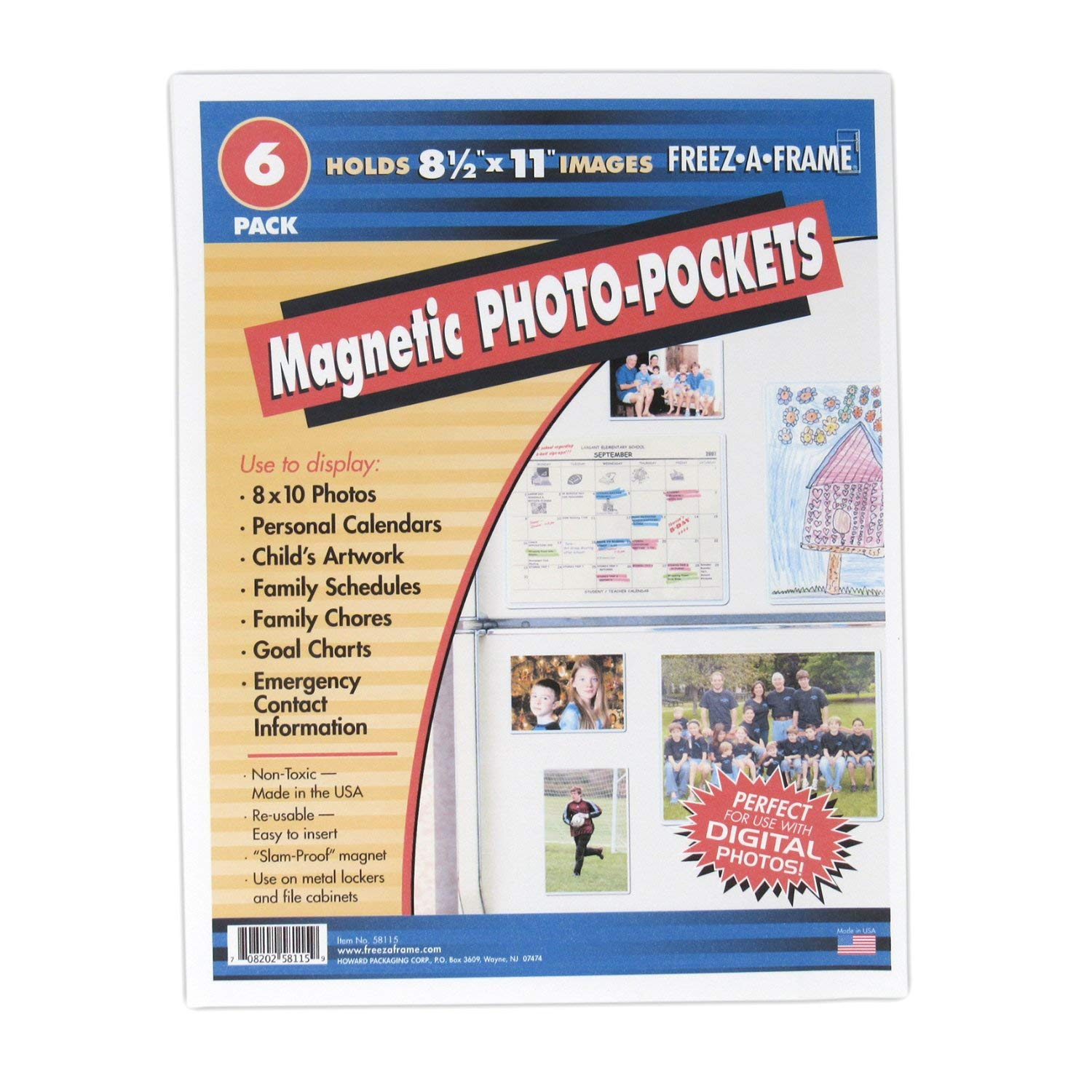 """Clear Magnetic Pockets (6-pack) Home & Work Organizers 