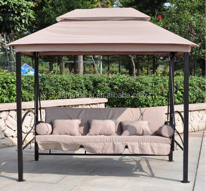 luxus terrasse pavillon liegebett schaukel mit moskitonetz und dach schwingen im hof produkt id. Black Bedroom Furniture Sets. Home Design Ideas