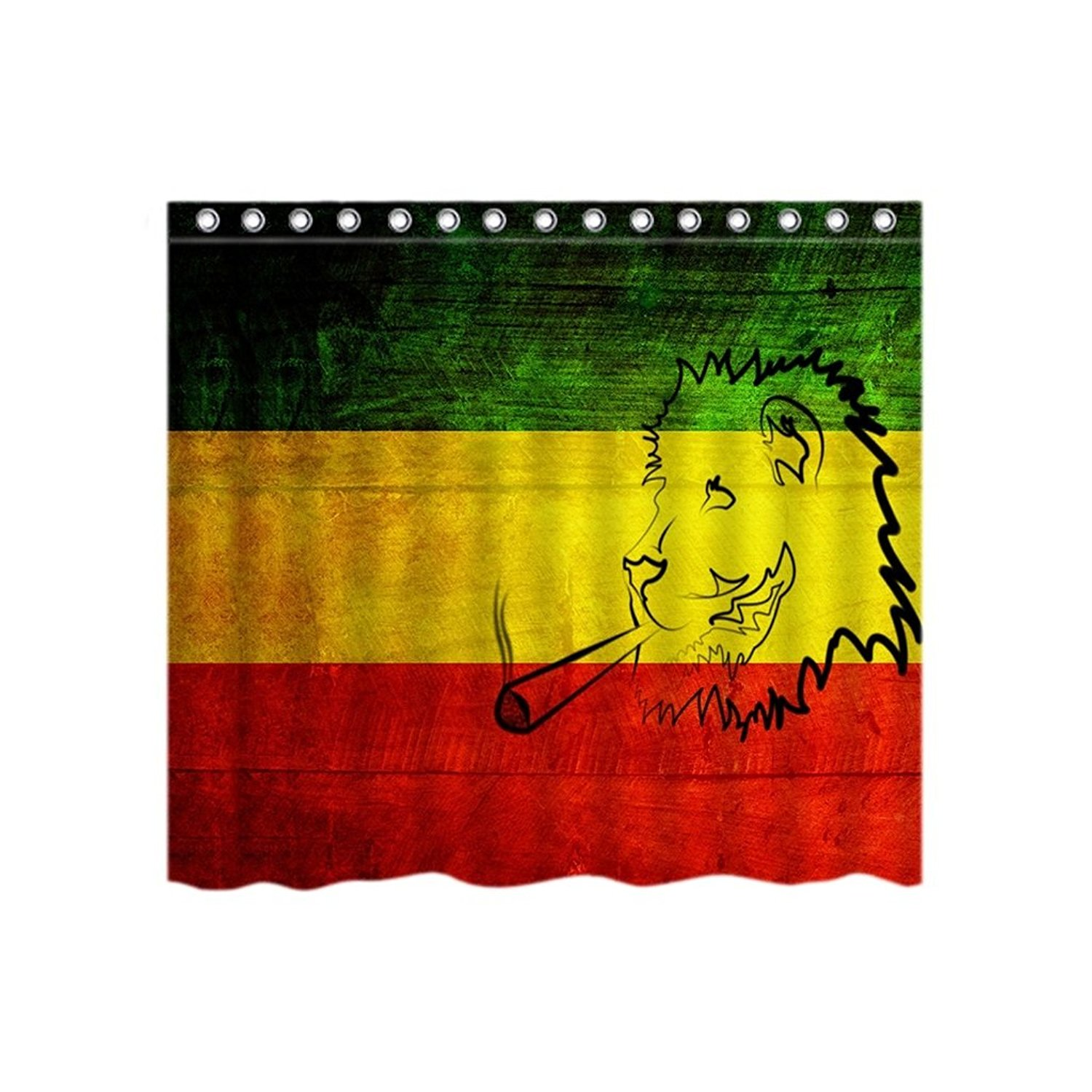 Lincoln Gore New Bob Marley Rasta Colour Seamless Custom Vogue Polyester  Fabric Shower Curtain Bathroom Sets