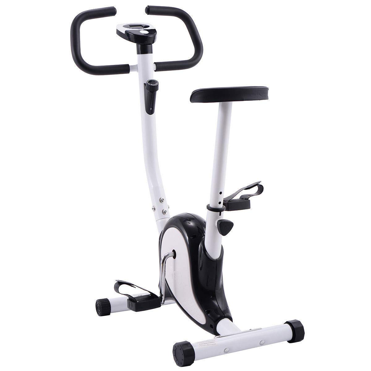 c6e13496077 Get Quotations · oldzon Exercise Bike Stationary Cycling Fitness Cardio  Aerobic Equipment Gym White and Black with Ebook