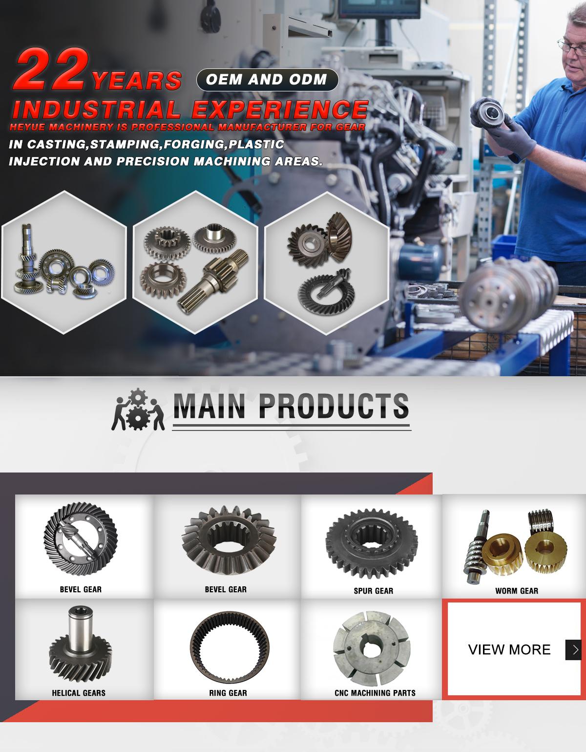 Wenling Heyue Machinery Co Ltd Bevel Gear Spur Gear