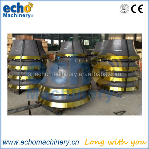 manganese steel CH430 cone crusher concave and mantle for quarry application