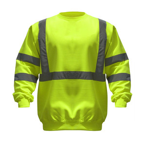 wholesale workwear long sleeve hi vis reflective t shirt