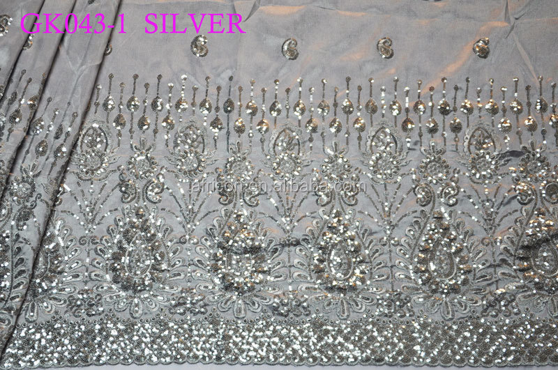 Gk043-1 Silver African Intorica African George Fabric For Party ...