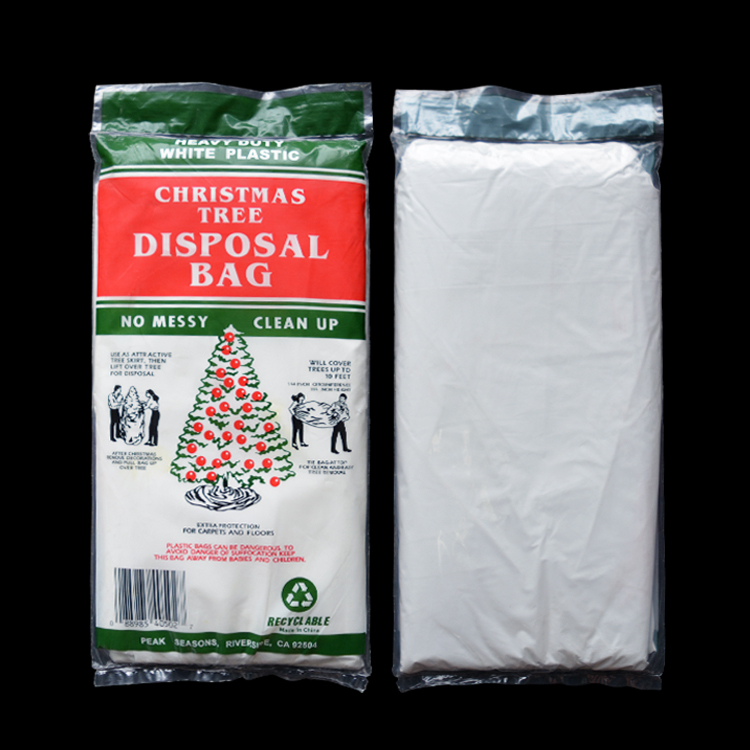 Manufacturing foil recyclable Christmas tree removal bag wholesale