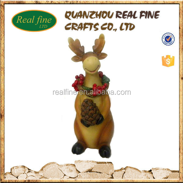 custom resin toy moose statue decorations wholesale