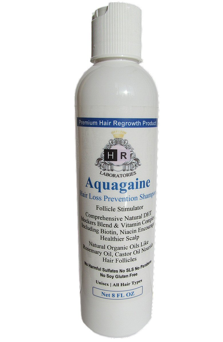Aquagaine Premium Hair Loss Prevention / Restoration Shampoo with Organic Rosemary & Castor Oil, Natural DHT Blockers and Biotin for Hair Growth – Sulfate Free, No Soy, For Men & Women, 8 OZ