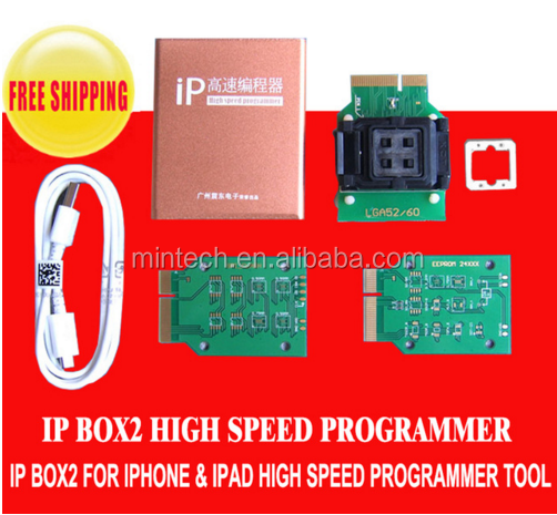 64 bit and 32 bit High speed programmer box Ic programmer IP BOX 2 for IPhone5 5s 6 6p 6S for iPad 2 3 4