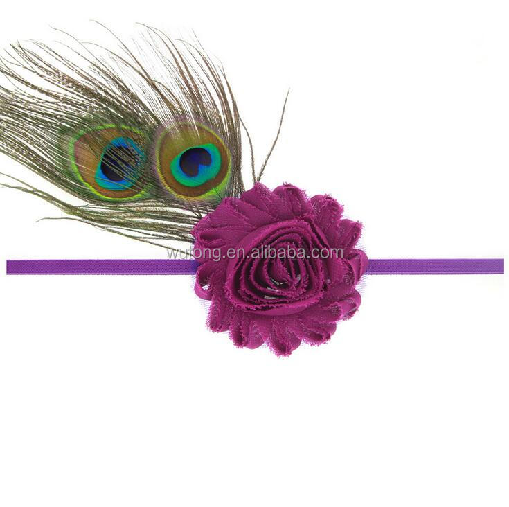 Cheapest Baby Girl Kids Infant Peacock Feather Headband Fashion Flower Hairband Cute Hairdress Headwear Headband