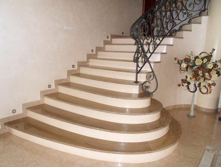 High Quality Hot-sale Marble Open Staircase