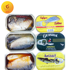 Canned Fish Canned Sardine in Oil/Tomato Sauce/Brine
