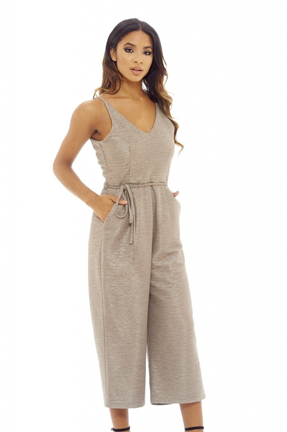 755398534020 Get Quotations · AX Paris Women s Strappy Culotte Jumpsuit