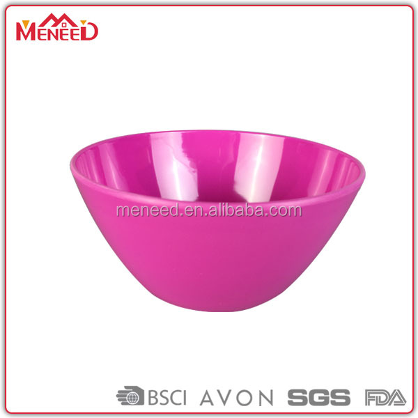 Custom color vibrant pink large cheap disposable clear plastic bowls on sales