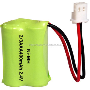 2.4v 400mah nimh battery 2/3AA size for cordless phone. accept customized nimh battery pack