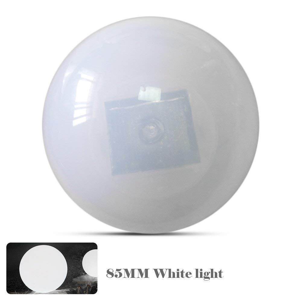 Solar Floating Pond Ball Light Led Mood Ball Lamp Decorative Solar Garden Pool Lights Color Changing Outdoor Waterproof Colorful Ball Light for Garden Yard Beach Swimming Pool Camping - White
