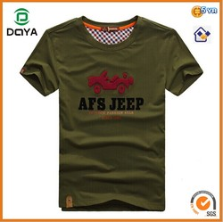 Mens Short Sleeve Towel Embroidery T Shirt