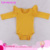 Hot Selling Solid Color Baby Girl Romper Clothes Long Sleeve Three Layers Ruffles Flutter Baby Onesie Romper With Snaps