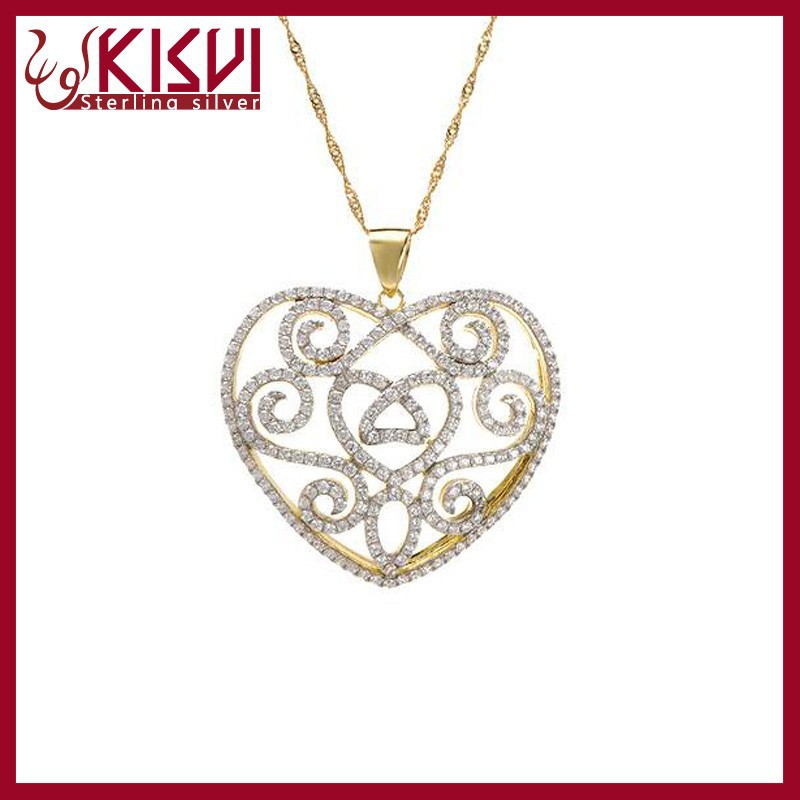 925 Sterling Silver Jewelry heart shape necklace Chain Wholesale; 14k gold jewelry wholesale