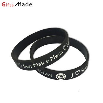 Factory directly custom design silicone bracelet / wristband / rubber band