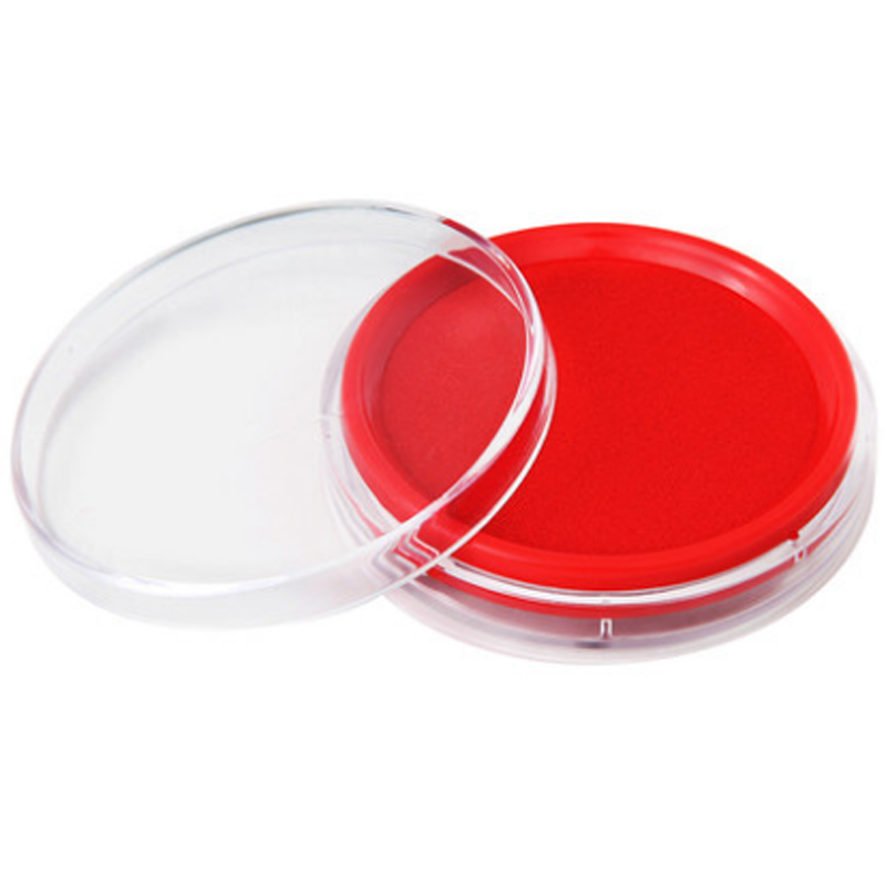 eco friendly transparent plastic round sponge ink stamp pad stamp pad with ink
