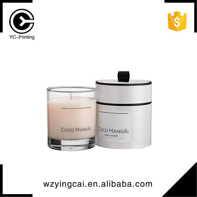 Cylinder storage aromatherapy packaging classic simple candle gift box for christmas