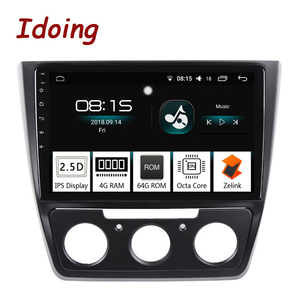 "Idoing 10.2"" 1Din 2.5D IPS 4G+64G Octa CoreCar Android 8.0 Radio Multimedia Player Fit Skoda Yeti 2014-2017 GPS Navigation Wifi"