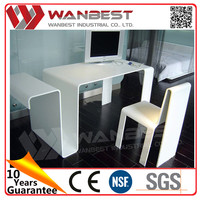 Special office desk design white solid surface marble office computer desk and chairs